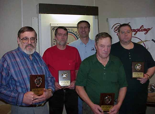 Class of 2000 - Frank DeFalco Sr. (accepted by Larry Sklaney), Larry Wiz, Jack Kranchick, John Harter, and Lou Yeager.