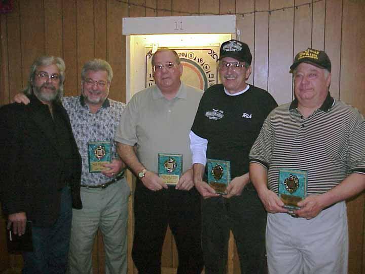 "Class of 2001 - Joe Patsy, Jerry Umberger, Paul ""Slug"" Makarczyk, Rick ""Kingifsh"" Zerr, and Lee Bredbenner"